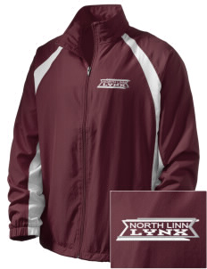 North Linn Elementary School Lynx  Embroidered Men's Full Zip Warm Up Jacket