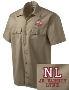 North Linn Elementary School Lynx Embroidered Dickies Men's Short-Sleeve Workshirt