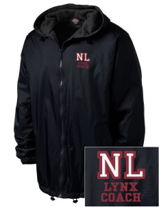 North Linn Elementary School Lynx Embroidered Dickies Men's Fleece-Lined Hooded Jacket
