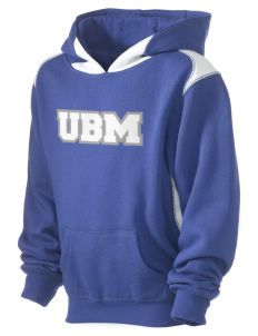 University Baptist Montessori Lamps Kid's Pullover Hooded Sweatshirt with Contrast Color
