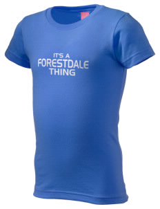 Forestdale School Falcons  Girl's Fine Jersey Longer Length T-Shirt