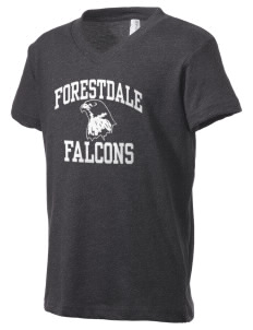 Forestdale School Falcons Kid's V-Neck Jersey T-Shirt