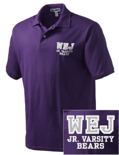 Walter E Jacobson Elementary School Bears Embroidered Men's Jersey Polo