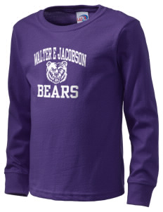 Walter E Jacobson Elementary School Bears  Kid's Long Sleeve T-Shirt