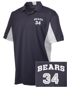 Walter E Jacobson Elementary School Bears Embroidered Men's Side Blocked Micro Pique Polo