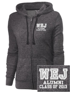 Walter E Jacobson Elementary School Bears Embroidered Women's Marled Full-Zip Hooded Sweatshirt