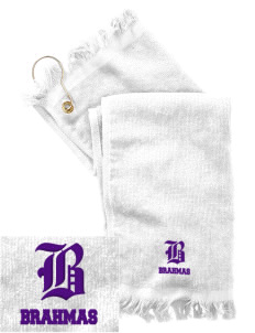 Diamond Bar High School Brahmas  Embroidered Grommeted Finger Tip Towel