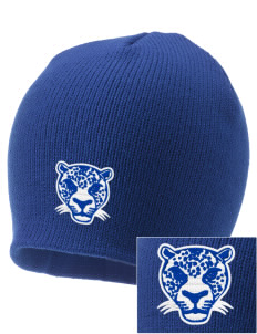 Lomitas Elementary School Leopards Embroidered Knit Cap