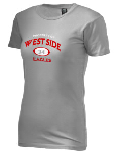 West Side High School Eagles Alternative Women's Basic Crew T-Shirt