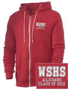 West Side High School Eagles Embroidered Alternative Men's Rocky Zip Hooded Sweatshirt