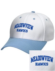 Meadowview Elementary School Hawks Embroidered New Era Snapback Performance Mesh Contrast Bill Cap
