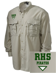 Reedley High School Pirates Embroidered Men's Explorer Shirt with Pockets