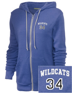 Wilmington High School Wildcats Embroidered Alternative Unisex The Rocky Eco-Fleece Hooded Sweatshirt