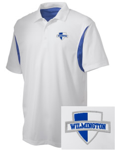 Wilmington High School Wildcats Embroidered Men's Back Blocked Micro Pique Polo