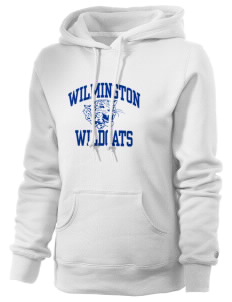 Wilmington High School Wildcats Russell Women's Pro Cotton Fleece Hooded Sweatshirt
