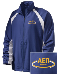Alpha Epsilon Pi  Embroidered Men's Full Zip Warm Up Jacket