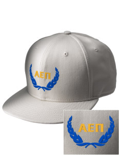 Alpha Epsilon Pi  Embroidered New Era Flat Bill Snapback Cap