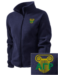 Alpha Gamma Rho Embroidered Women's Fleece Full-Zip Jacket