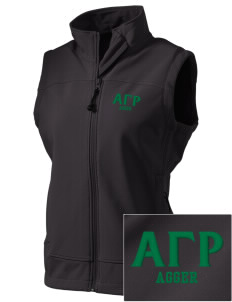 Alpha Gamma Rho  Embroidered Women's Glacier Soft Shell Vest