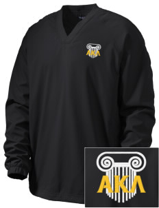 Alpha Kappa Lambda Embroidered Men's V-Neck Raglan Wind Shirt