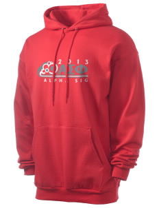 Alpha Sigma Phi Men's 7.8 oz Lightweight Hooded Sweatshirt