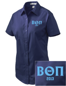 Beta Theta Pi Embroidered Women's Easy Care Short Sleeve Shirt