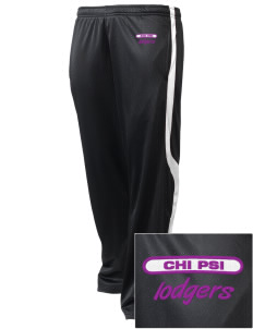 Chi Psi Embroidered Holloway Men's Tricotex Warm Up Pants