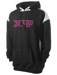 Chi Psi Men's Pullover Hooded Sweatshirt with Contrast Color
