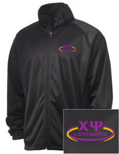 Chi Psi Embroidered Men's Tricot Track Jacket