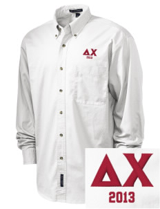 Delta Chi Embroidered Tall Men's Twill Shirt