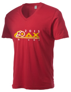 Delta Chi Alternative Men's 3.7 oz Basic V-Neck T-Shirt