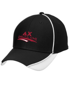 Delta Chi Embroidered New Era Contrast Piped Performance Cap