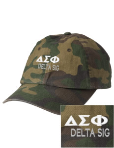 Delta Sigma Phi Embroidered Camouflage Cotton Cap