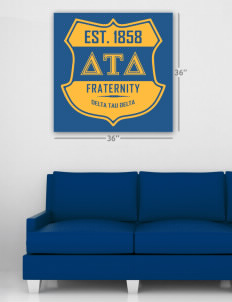 "Delta Tau Delta Wall Poster Decal 36"" x 36"""