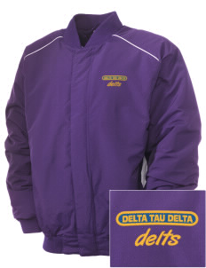 Delta Tau Delta Embroidered Russell Men's Baseball Jacket