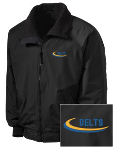 Delta Tau Delta Embroidered Men's Fleece-Lined Jacket