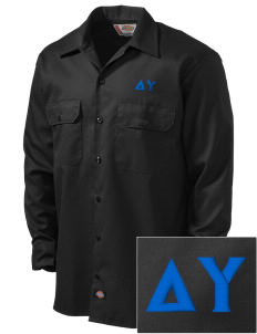 Delta Upsilon Embroidered Dickies Men's Long-Sleeve Workshirt