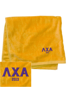 Lambda Chi Alpha Embroidered Beach Towel