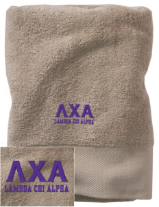 Lambda Chi Alpha Embroidered Zero Twist Resort Towel