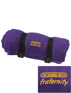 Phi Gamma Delta Embroidered Fleece Blanket with Strap
