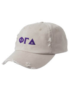 Phi Gamma Delta Embroidered Distressed Cap