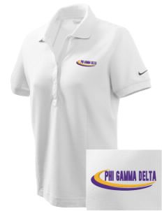 Phi Gamma Delta Embroidered Nike Women's Pique Golf Polo