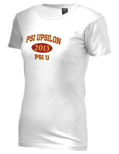 Psi Upsilon Alternative Women's Basic Crew T-Shirt