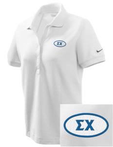 Sigma Chi Embroidered Nike Women's Pique Golf Polo