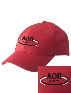 Alpha Omicron Pi  Embroidered New Era Adjustable Structured Cap