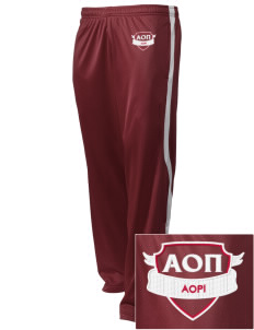 Alpha Omicron Pi Embroidered Holloway Men's Tricotex Warm Up Pants