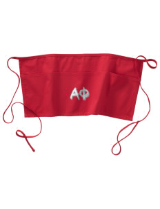Alpha Phi Waist Apron with Pockets