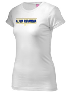Alpha Phi Omega  Juniors' Fine Jersey Longer Length T-Shirt