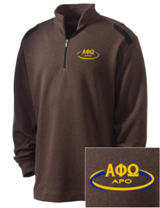 Alpha Phi Omega Embroidered Nike Men's Golf Heather Cover Up