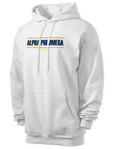 Alpha Phi Omega Men's 7.8 oz Lightweight Hooded Sweatshirt